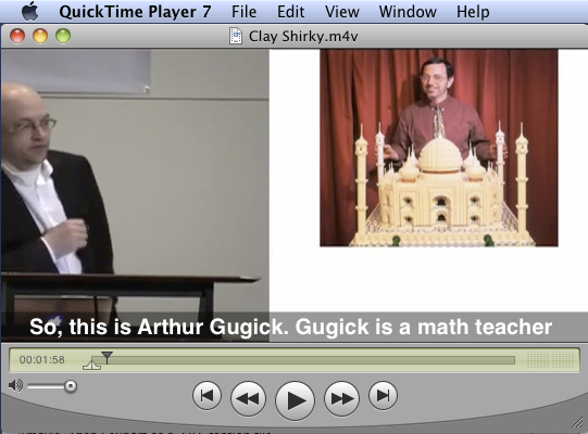soft subtitles displayed in the QuickTime Player