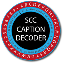 SCC Caption Decoder logo
