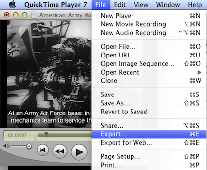 Exporting from quicktime pro to create a new movie with open captions