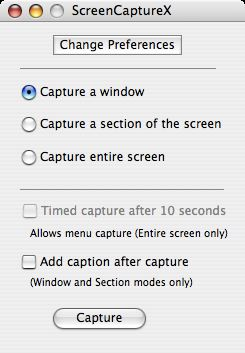 ScreenCaptureX interface